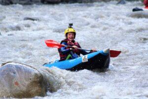 Barcelonnette kayak raft