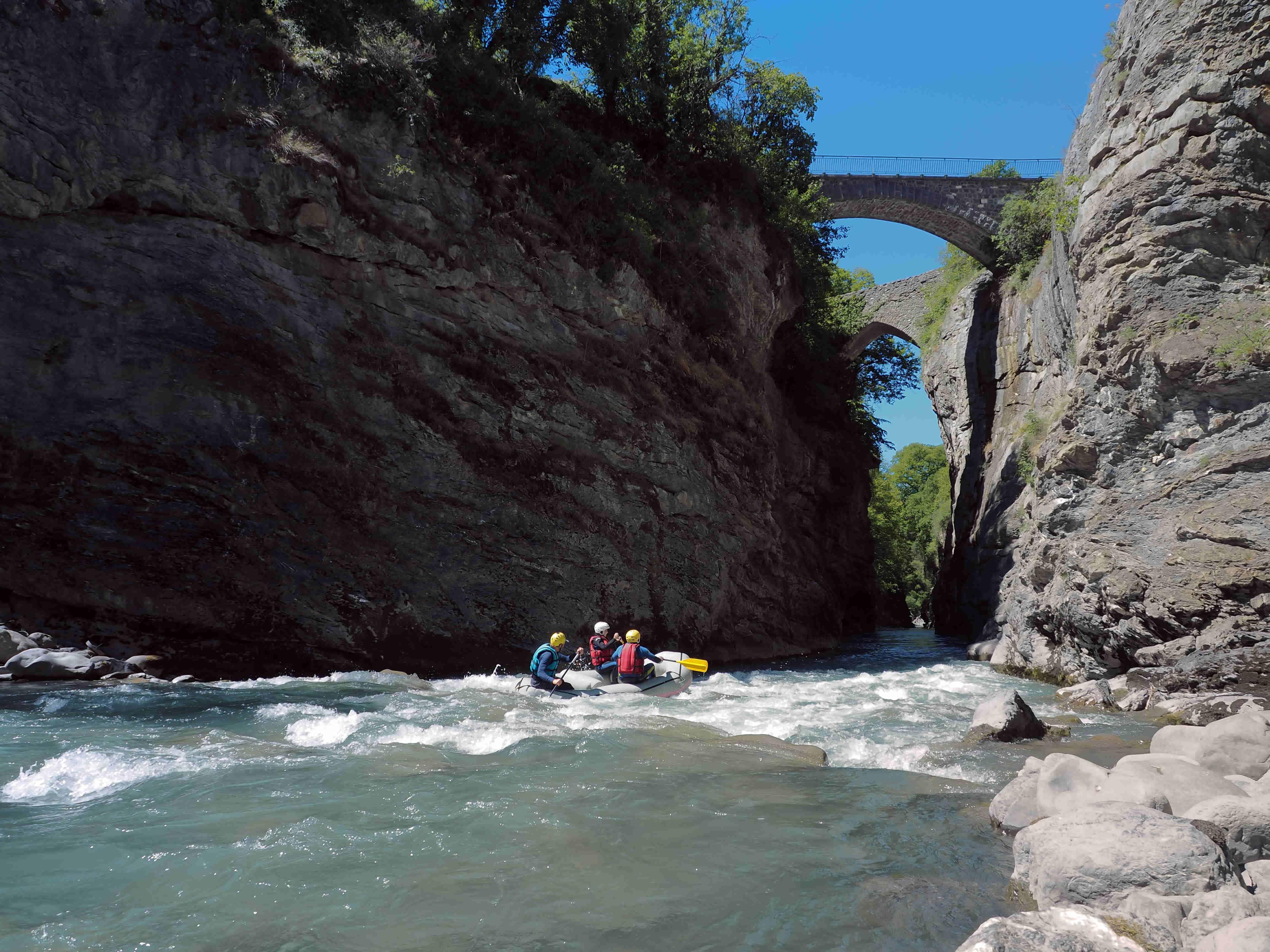Descente en rafting Alpes